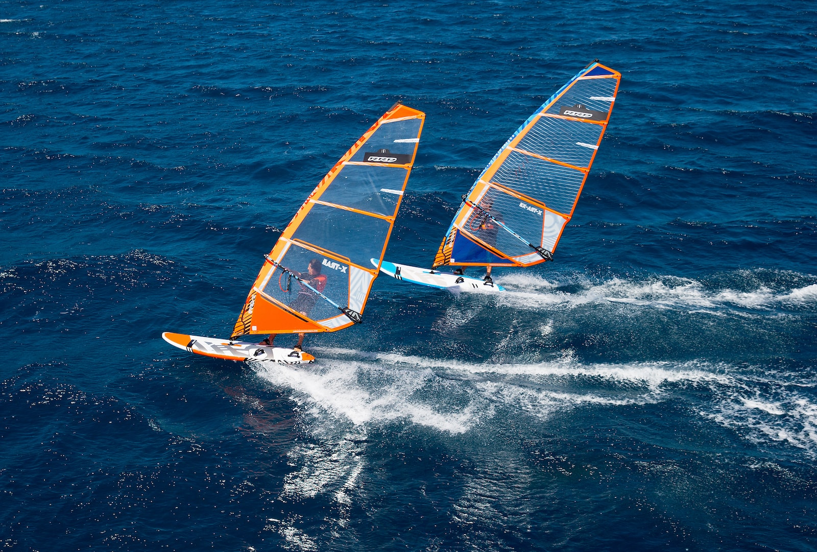 freeride plachta x-tra rrd mk5 orange blue windsurfing karlin