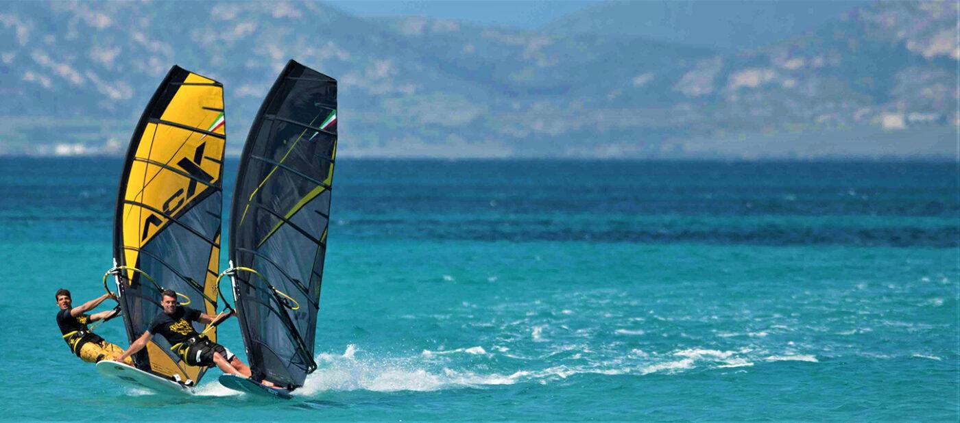 ac f plachty black yellow windsurfing karlin